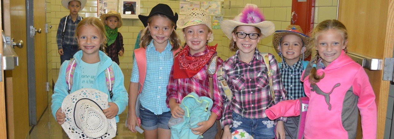 Cowboy day at elementary school