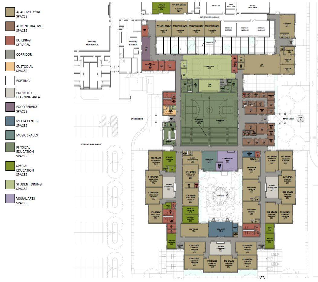 Floor Plan of New Building - Updated December 27, 2018