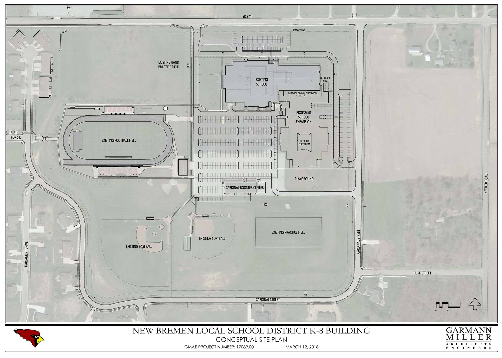 Site Layout Plan for new K-8 building