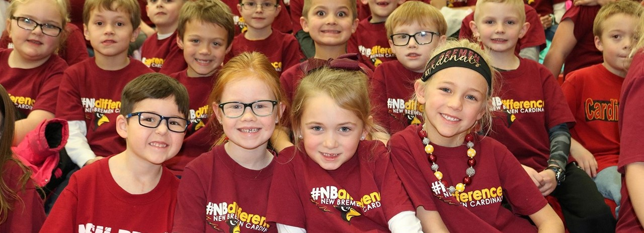 Elementary Students at #NBDifference Pep Rally