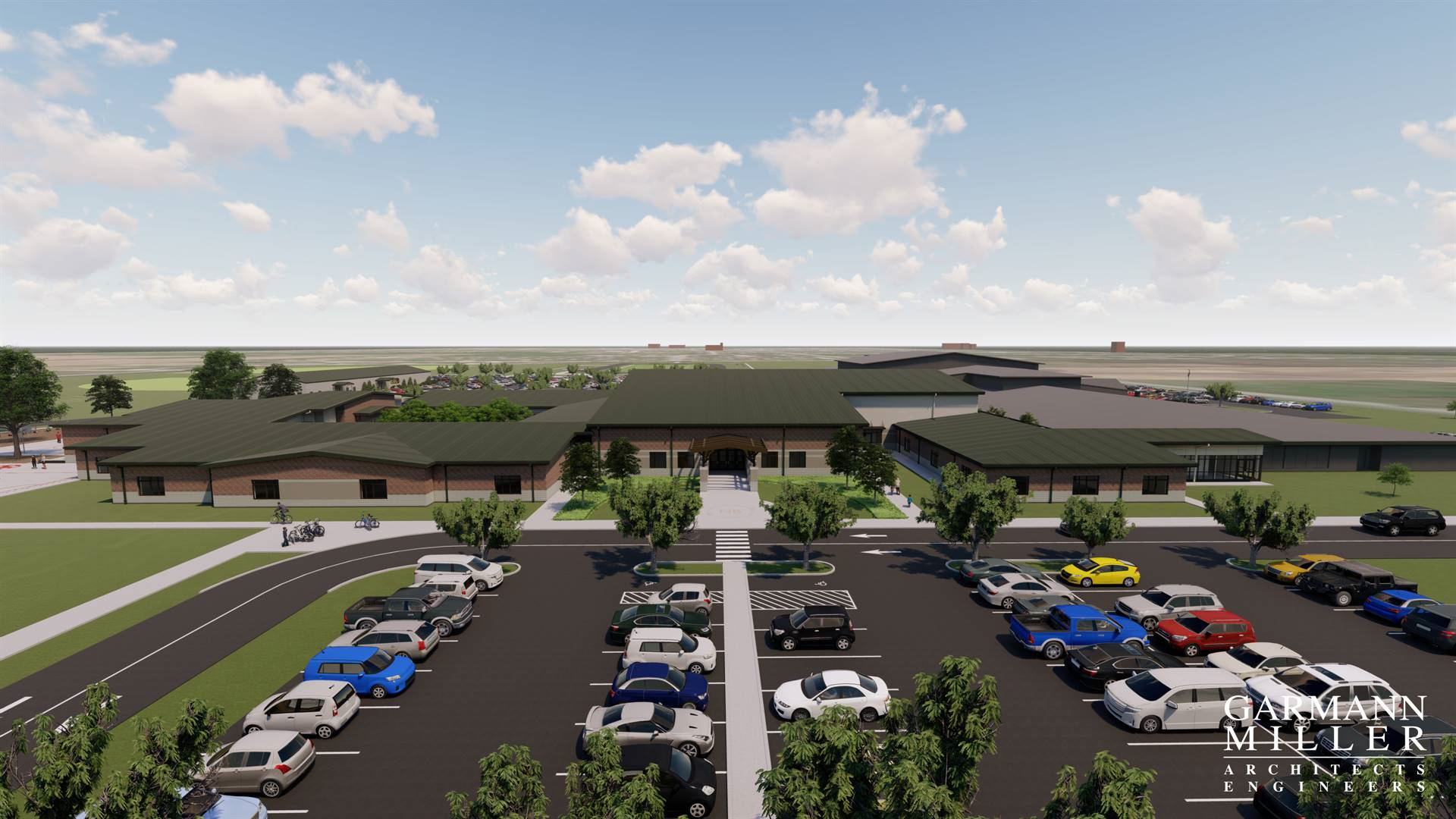 Main Entry View of Proposed K-8 Building