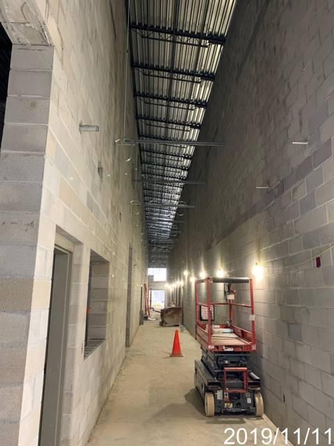 Inside photo of a hallway