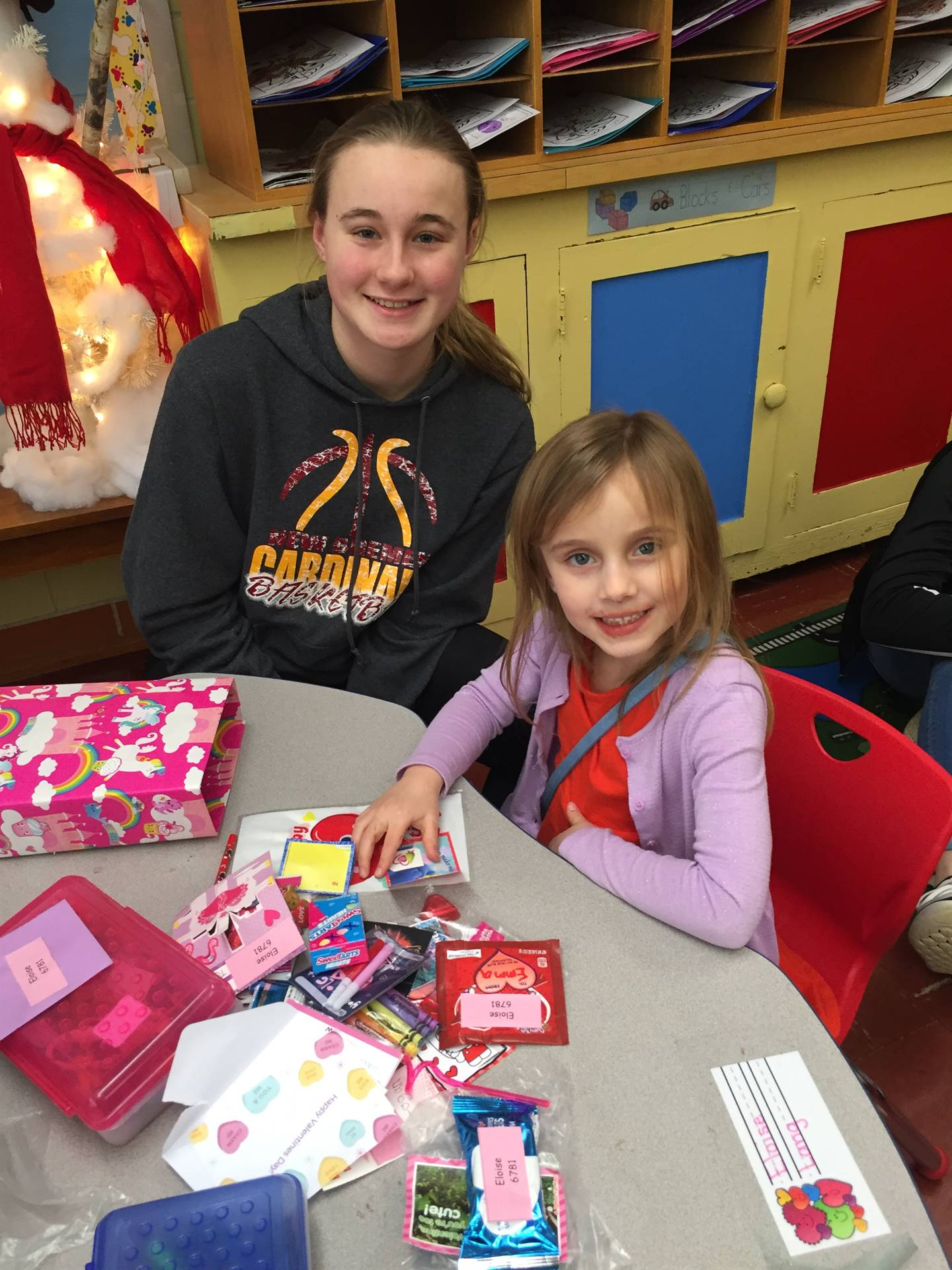 Valentine's Day with our 8th Grade Buddies!