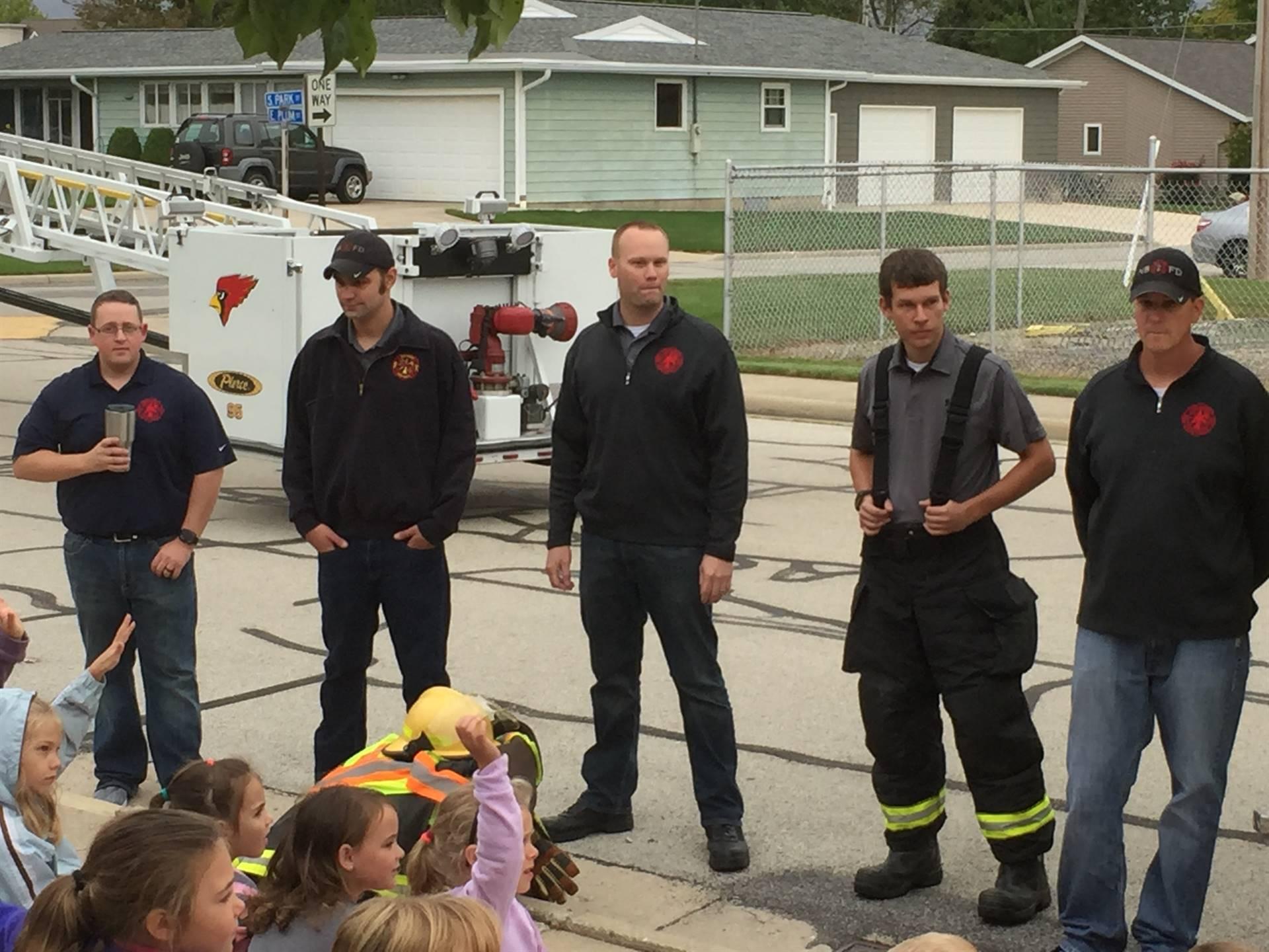 fire safety- fire truck visit!