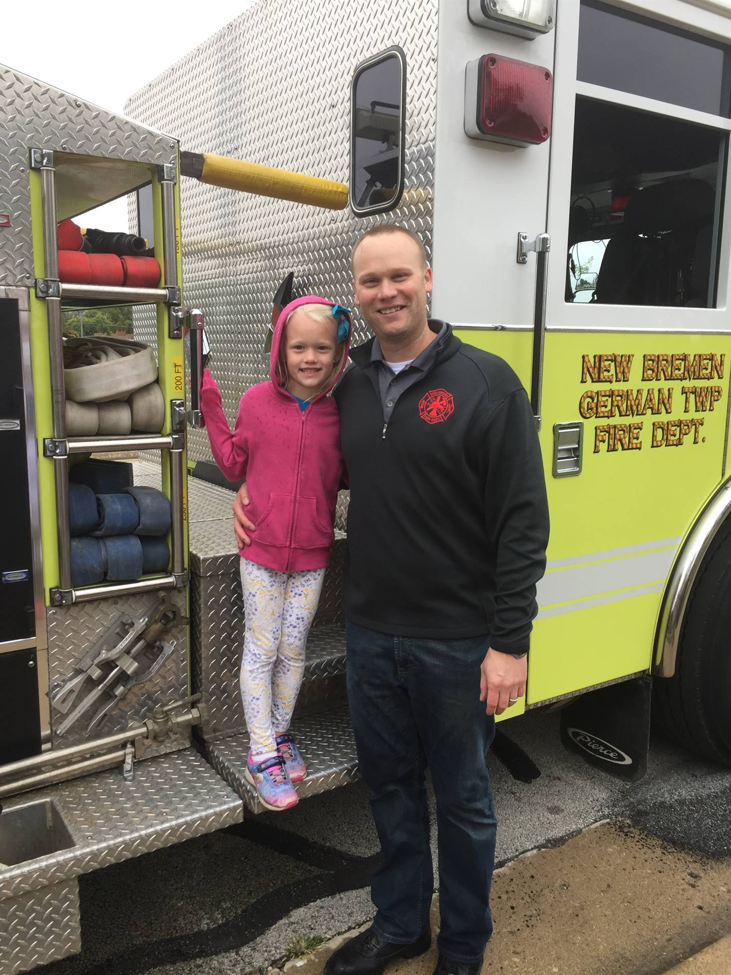 Future firefighter & Daddy the Firefighter!