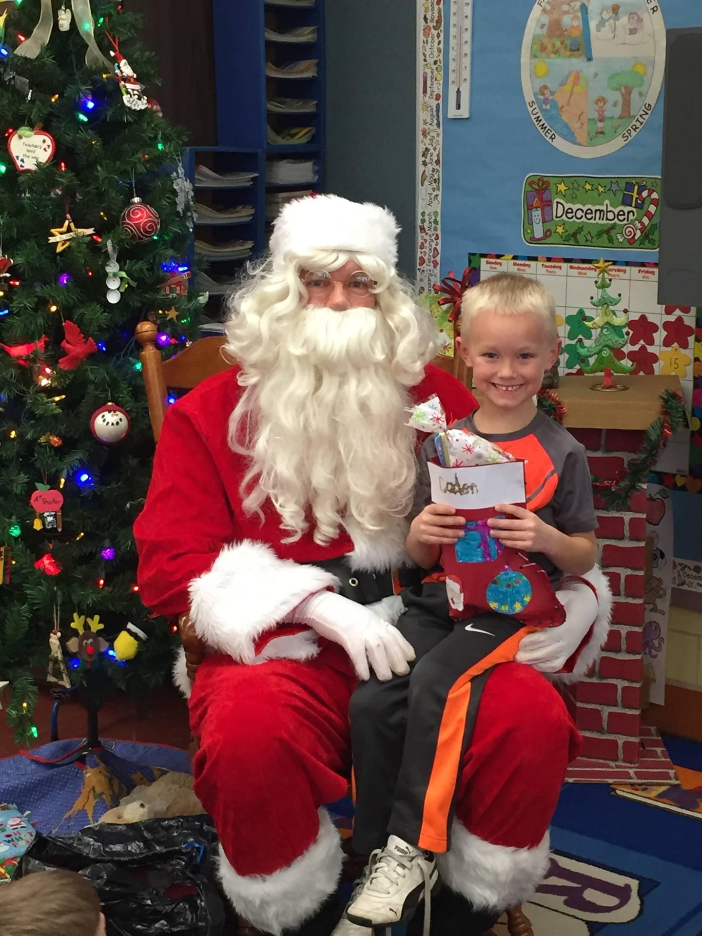 Santa came to Kindergarten!