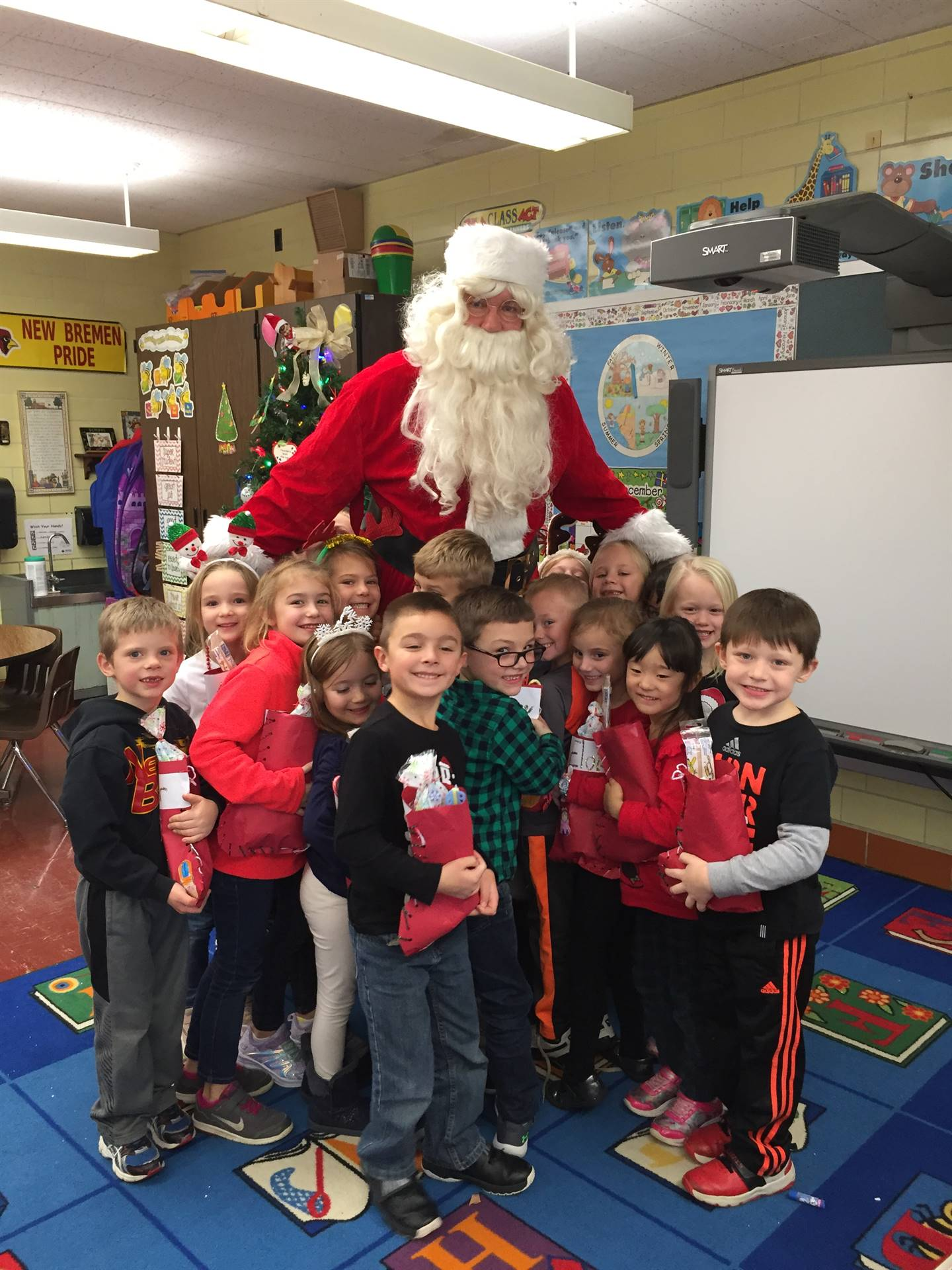 Santa came to Kindergarten!