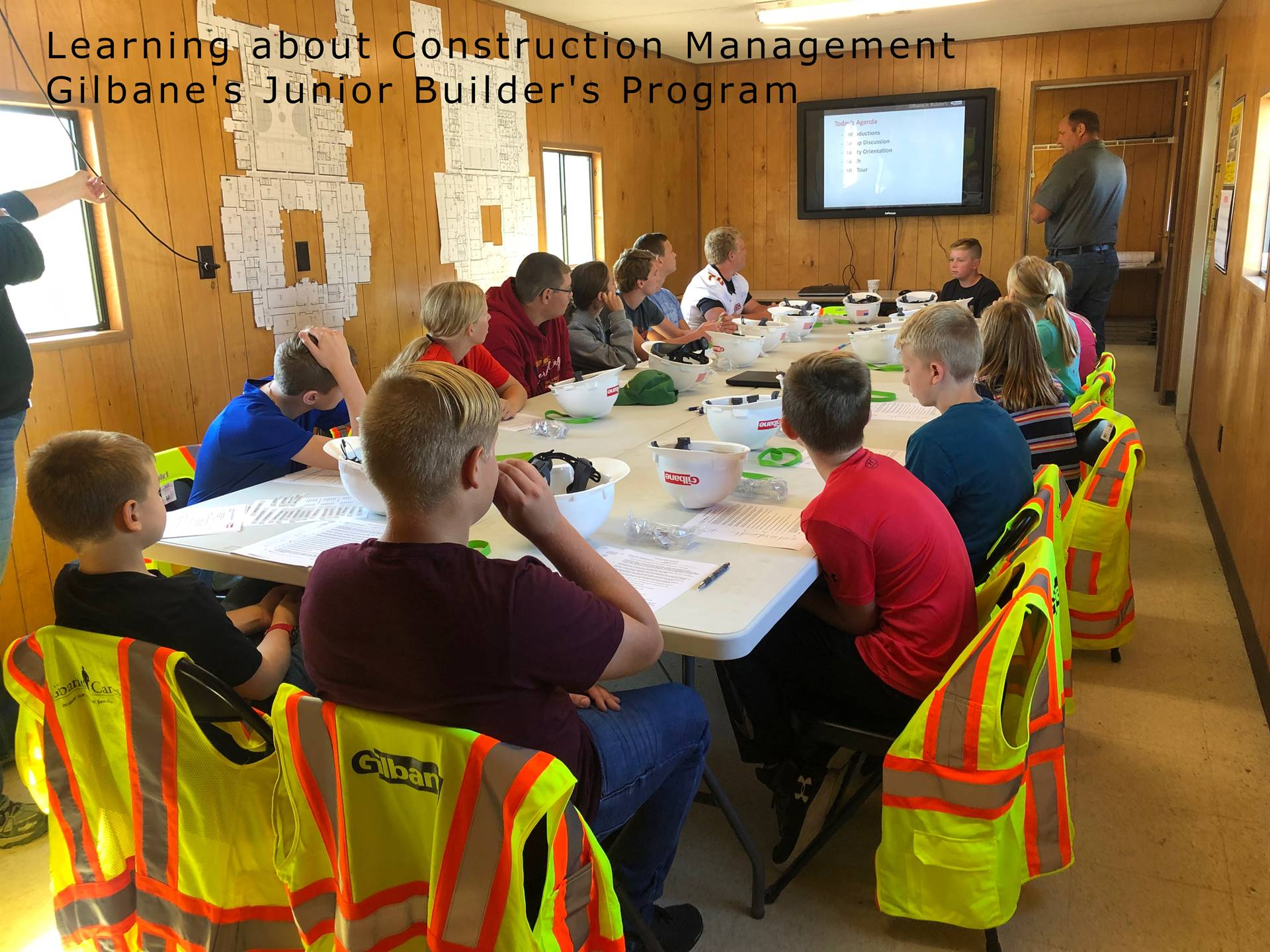 Gilbane's Junior Builder's Program - Students learning about Construction Management