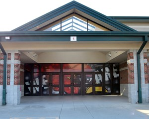 Picture of the front of New Bremen Senior High School